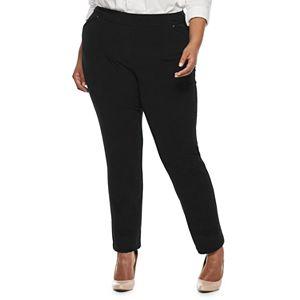 8511945f30a49 Plus Size Croft   Barrow® Tummy Control Pull-On Leggings. (3). Sale