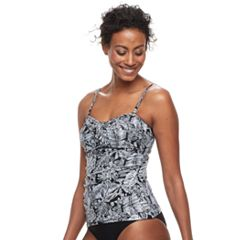 Women's Croft & Barrow® Twist-Front Bandeaukini Top