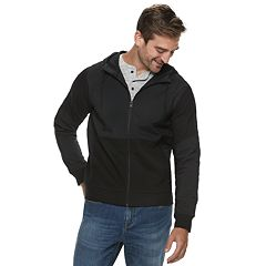 Men's Marc Anthony Slim-Fit Mixed Media Full-Zip Jacket