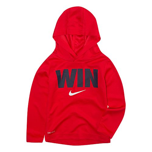 "Boys 4-7 Nike ""Win"" Logo Dri-FIT Pullover Hoodie"