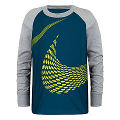 Boys 4-7 Nike Logo Wrap Raglan Graphic Tee