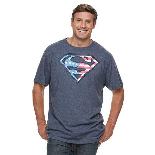 Big & Tall Superman Americana Graphic Tee