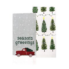 St. Nicholas Square® Truck Kitchen Towel 2-pack