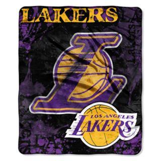 Los Angeles Lakers Dropdown Raschel Throw by Northwest