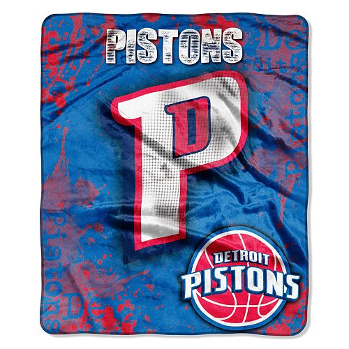 Detroit Pistons Dropdown Raschel Throw by Northwest