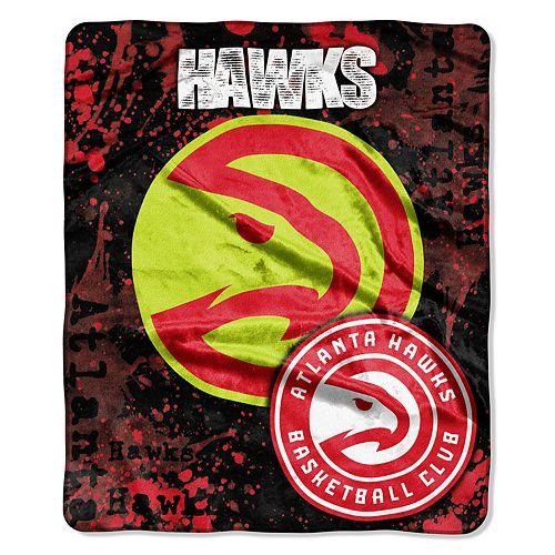 Atlanta Hawks Dropdown Raschel Throw by Northwest