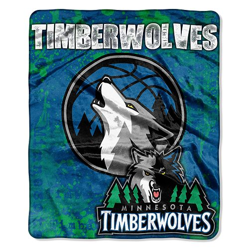 Minnesota Timberwolves Dropdown Raschel Throw by Northwest