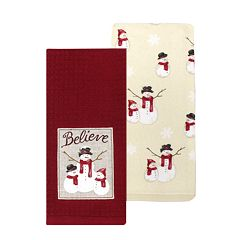 St. Nicholas Square® Snowman Patch Kitchen Towel 2-pack