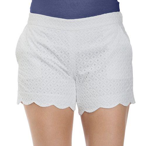 b740a12ba3a3 Women s IZOD Eyelet Scalloped Midrise Shorts