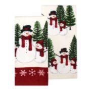 St. Nicholas Square® Yuletide Snowman Kitchen Towel 2-pack