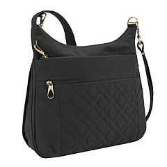 5d17ceacf41 Travelon Anti-Theft Signature Quilted Expansion Crossbody Bag