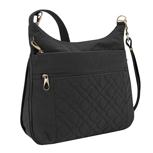 Travelon Anti-Theft Signature Quilted Expansion Crossbody Bag