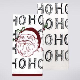 St. Nicholas Square® Santa Face Kitchen Towel 2-pack