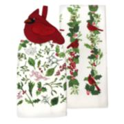St. Nicholas Square® Cardinal Tie-Top Kitchen Towel 2-pack