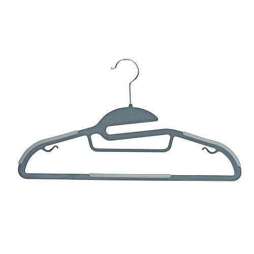 Simplify 8-pack Ultimate Razor Thin S-Shape Collar Saver Nonslip Suit & Shirt Hangers with Tie Bar