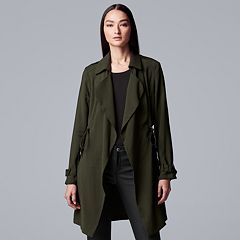 Women's Simply Vera Vera Wang Flyaway Trench Coat