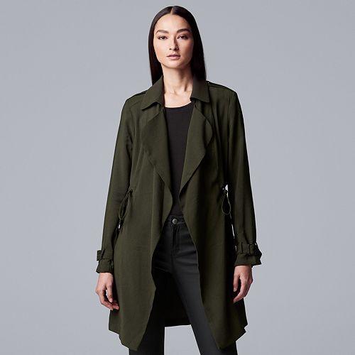 Women's Simply Vera Vera Wang Flyaway Trench Coat