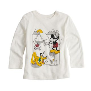 Disney's Mickey Mouse & Pluto Toddler Boy Camping Slubbed Graphic Tee by Jumping Beans®
