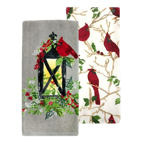 St. Nicholas Square® Lantern Kitchen Towel 2-pack