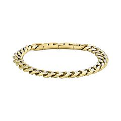 LYNX Men's Stainless Steel Curb Chain Bracelet