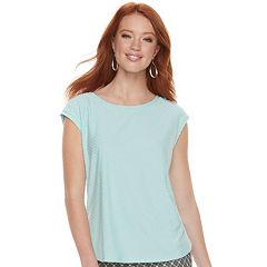 Women's ELLE™ Swiss Dot Tee
