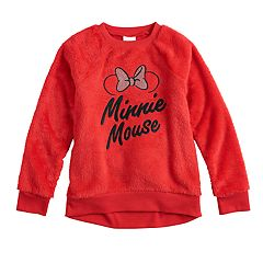 Disney's Minnie Mouse Girls 4-12 Embroidered Graphic Plush Pullover by Jumping Beans®