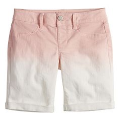 Girls 7-16 SO® Ombre Jean Bermuda Shorts