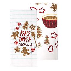 St. Nicholas Square® Peace, Love & Cookies Kitchen Towel 2-pack
