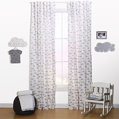The Peanut Shell Cloud Window Curtain Set