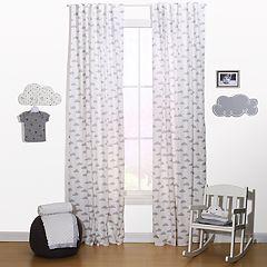 The Peanut Shell Cloud Window Curtain Set