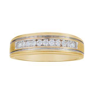 Men's 10k Gold 1/4 Carat T.W. Diamond Channel Ring