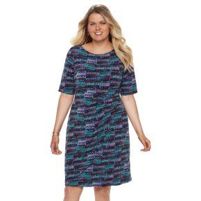 Plus Size Dana Buchman Faux Wrap Dress
