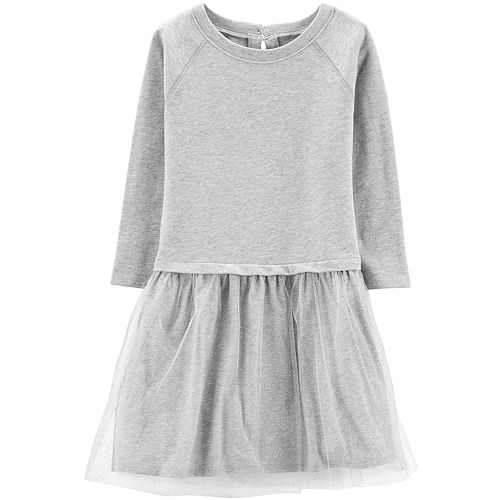 Girls 4-12 Carter's French Terry Tulle Dress