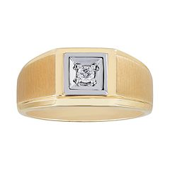 Men's 10k Gold 1/10 Carat T.W. Diamond Solitaire Ring