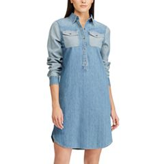 Women's Chaps Jean Shirt Dress