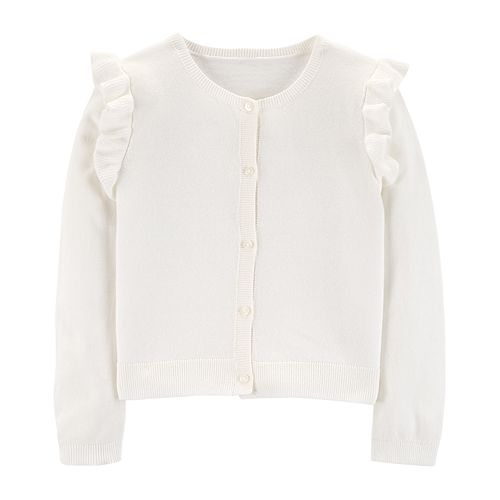 Girls 4-8 Carter's Ruffled Cardigan Sweater