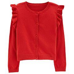 Girls 4-8 Carter's Ruffled Cardigan Sweater