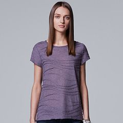 Women's Simply Vera Vera Wang Essential Windy Jacquard Tee