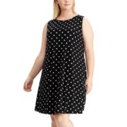 Plus Size Chaps Print Sheath Dress