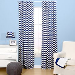 The Peanut Shell Chevron Window Curtain Set