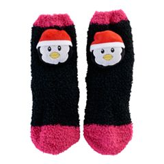 Girls 7-16 Penguin Slipper Socks
