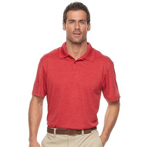 Men's Haggar® Regular-Fit Solid Textured Performance Polo