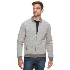 Men's Marc Anthony Slim-Fit Foldover Collar Knit Bomber Jacket