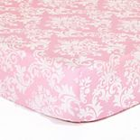 The Peanut Shell Damask Delight Fitted Crib Sheet