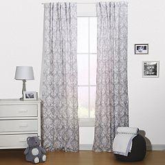 The Peanut Shell Damask Delight Window Curtain Set