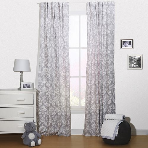 The Peanut Shell Damask Delight Window Curtain Set
