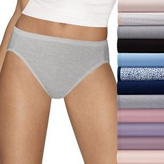 Women's Hanes Cotton Comfort Ultra Soft 12-Pack High-Cut Panties  43KP12