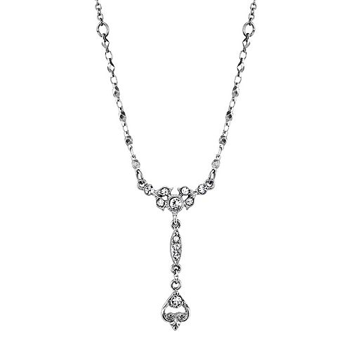 Downton Abbey Simulated Crystal Drop Necklace
