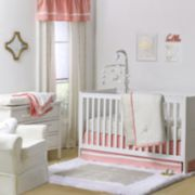 The Peanut Shell All That Glitters Confetti Quilt, Dust Ruffle, Fitted Crib Sheet & Musical Mobile Set