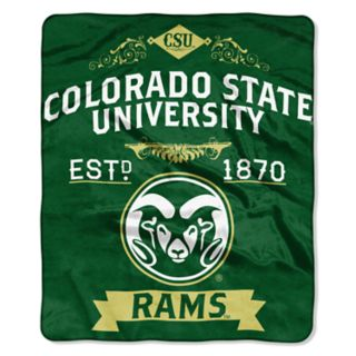 Colorado State Rams Label Raschel Throw by Northwest